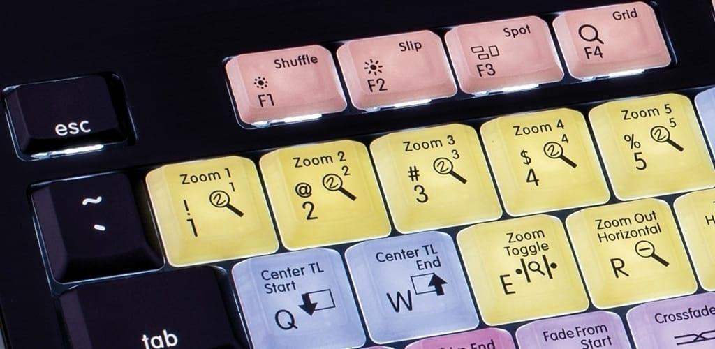 Logic Keyboard Avid Pro Tools Mac Backlit ASTRA keyboard