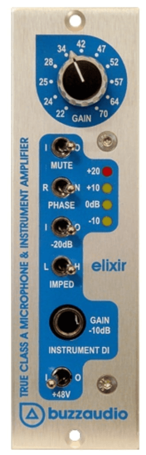 Buzz Audio Elixir 500 series Mic Preamp