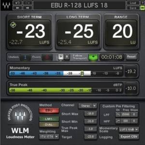 Waves WLM Plus Loudness Meter Plugin